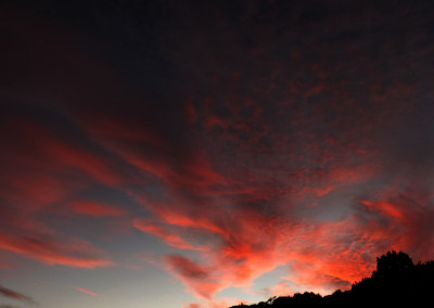 15-6-15 sunset clouds over Dunedin