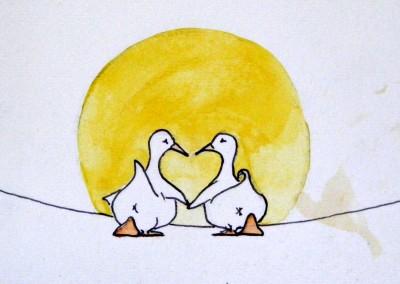LOVE DUCKS 7.5X5