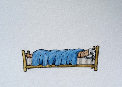 WORM IN BED 7.5X5